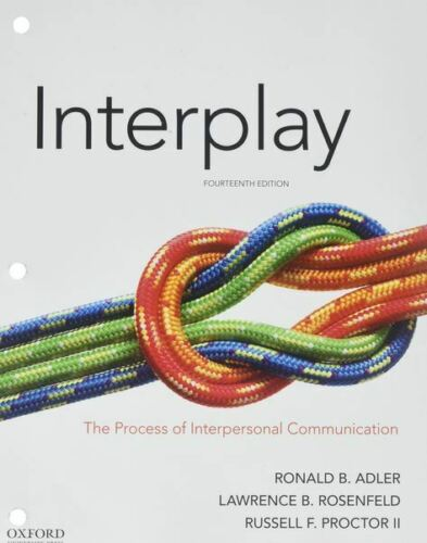Interplay: The Process of Interpersonal Communication 14th Edition🔥P.D.F