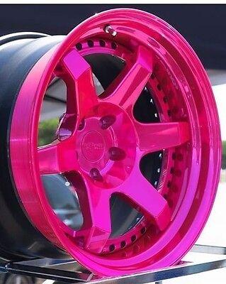 Gloss Transparent Candy Pink Fuchsia Powder Coating Paint 1lb0.45kg