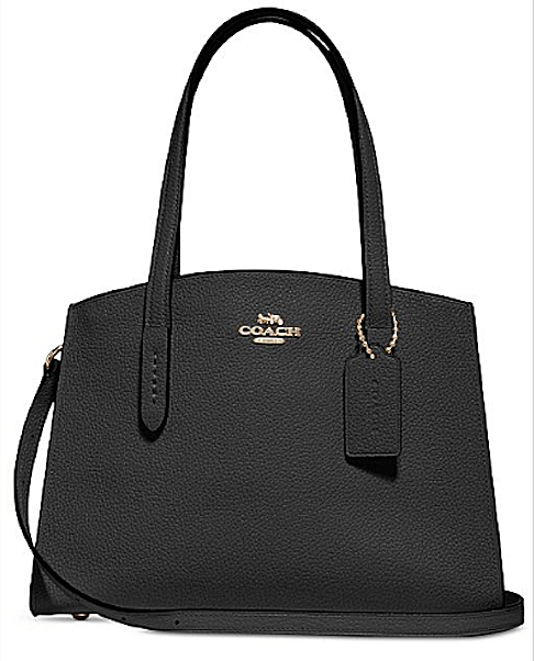 Coach Charlie Black 28 Carryall Tote Bag