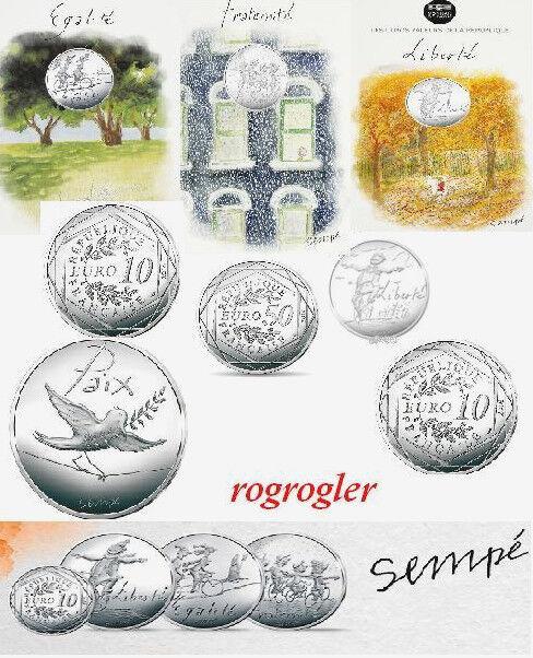 série 10 euro valeurs la rèpublique argent cartelette sempe 2014