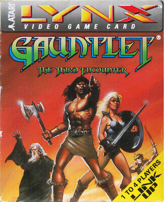 Gauntlet: The Third Encounter (Lynx, 1990) Cartridge and Copied Manual