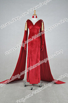 Once Upon a Time in Wonderland Cosplay Red Queen Anastasia Costume Halloween New](Once Upon A Time Red Halloween Costume)
