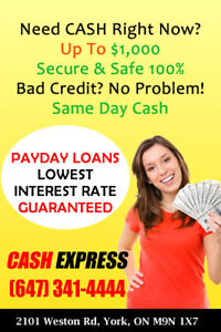 1 day loans bad credit