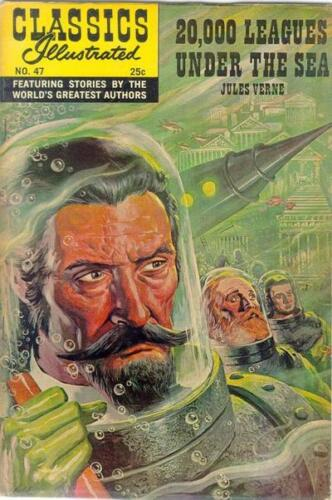 CLASSICS ILLUSTRATED #47 G, HRN #169, 20,000 Leagues Under, Gilberton 1970
