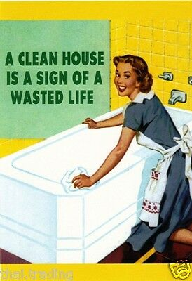 """Vintage Funny House Cleaning Ads Photo Fridge Magnet 2""""x3"""" Collectibles"""