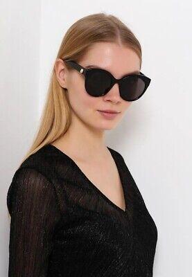 55e727fd97c Gucci Women s Gold Feline Head and GG Logo Cat-Eye Sunglasses