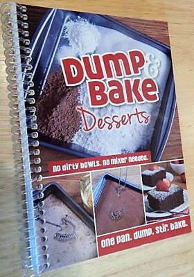 Dump & Bake Desserts Cookbook color photos, One Pan cake recipes + tips (Recipe Dump Cake)