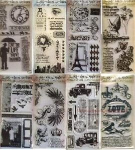 TIM HOLTZ VISUAL ARTISTRY Clear Stamp Collection Lot  - 8 Sets