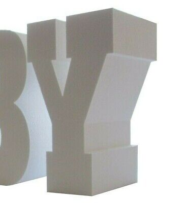 Rockwell EBC font TABLE BASE LETTERS 750mm high 200mm thick Price Per Letter