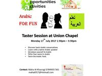 Arabic Taster Session