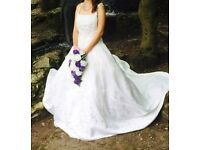 Selling my ivory wedding dress, corset back and underskirt with it