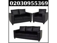 BRAND NEW Leather Bonded & Pu Leather Sofa Set 3 + 2 + 1 delivery only in london