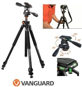 NEW VANGUARD ALTA PLUS 3 SECTION ALUMINUM TRIPOD WITH PANHEAD #2