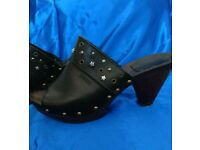 Esprit Leather Mules size 6
