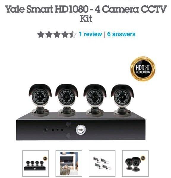 Yale camera security cctv set