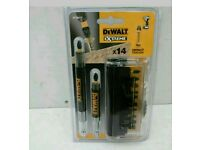 DEWALT 14PCE IMPACT TORSION SCREWDRIVER BIT SET IN A HANDY CASE