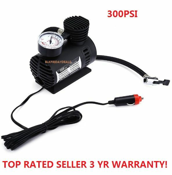 300PSI C300 12V  Mini Air Compressor Auto Car Electric Tire Air Inflator Pump