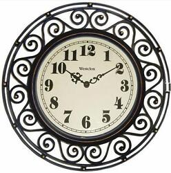 Westclox 12 Inch See Through Wrought Iron Appearance Wall Clock USA Seller