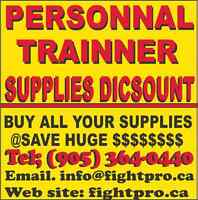 DISCOUNT FOR PERSONAL TRAINNER, BUY ALL SUPPLIES