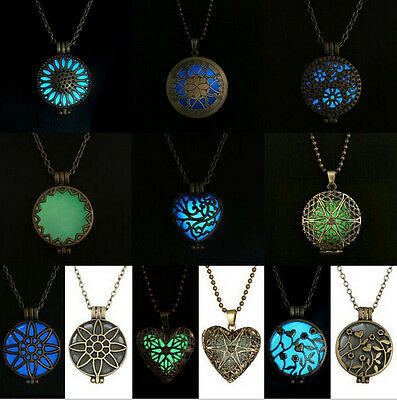 Wholesale Magic Pretty Round Heart Locket Glow In The Dark Pendant Necklace Gift (Glow In Dark Necklaces Wholesale)