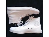 Brand New Converse All Star Chuck Taylor White Leather Trainers UK 7.5 EU41