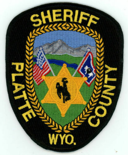 PLATTE COUNTY SHERIFF WYOMING WY NICE COLORFUL PATCH POLICE