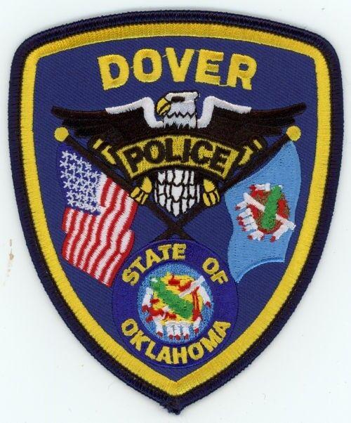 DOVER POLICE OKLAHOMA OK PATCH SHERIFF COLORFUL