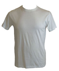NEW Men's Plain 100% COTTON T-SHIRT White Black sizes S - XXL
