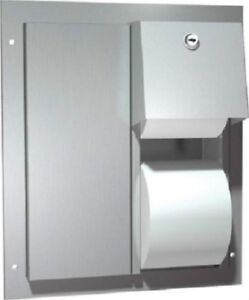 American Specialties Dual Toilet Paper Dispenser St. Steel....
