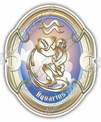 Aquarius Zodiac Sign Horoscope Astrology Car Bumper Vinyl Sticker Decal 4 X5