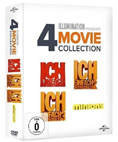 ICH-EINFACH UNVERBESSERLICH 1-3 & MINIONS  4 DVD NEU