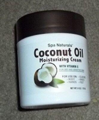 New Spa Natural's Coconut Oil Moisturizing Cream w/Vit E  Most Hydrating  NEW