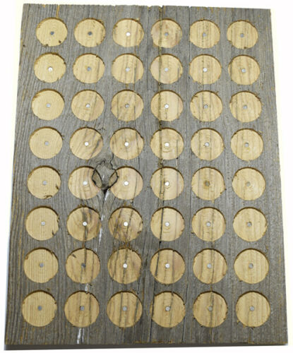 PATHTAG GEOCOIN DISPLAY - BARNWOOD - HOLDS 48 TAGS - NEW - MADE IN USA