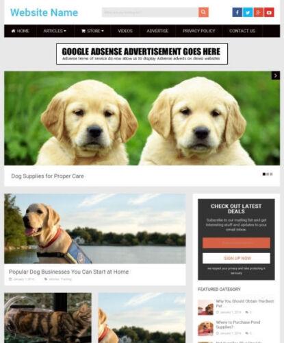 PET SUPPLIES STORE - Website Business For Sale Responsive Mobile Friendly Design