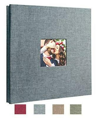 Beautyus Self Adhesive Stick Photo Album Magnetic Scrapbook DIY Medium, Gray  Medium Photo Album