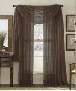 1 Pcs. Sheer Voile Window Panel curtains 20 different colors Brand New Curtian!!
