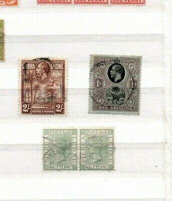 3 very nice Sierra Leone Victorian & George V issues