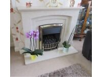 **Gas fire and marble surround**