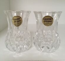 Pair Miniature Cristal d'Arques Vase or Candle holders Dingley Village Kingston Area Preview