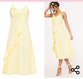 X2 brand new yellow dresses.