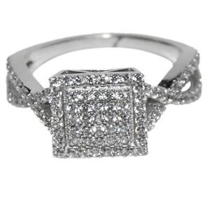cubic zirconia wedding rings that look real the look of real clear cz square pave bridal clear cubic 3221