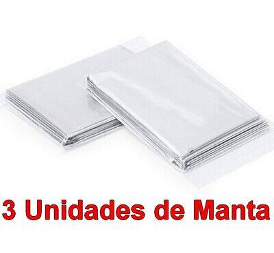 3 Unidades de Manta Termica impermeable y plegable 130x210 cm, deporte, ocio,etc