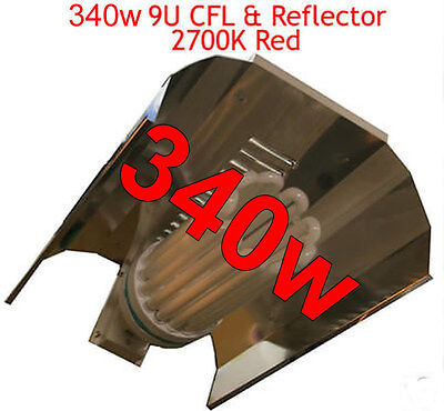 340w FLOWERING RED 2700K 9TUBE GIANT CFL GROW LIGHT 2p/HR TO RUN!! Not 250W 300w