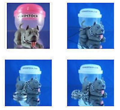 PIT BULL TERRIER #21 HOOD HOUNDS DOG FIGURE DANGLER KEYCHAIN LIGHT FAN LAMP PULL ()