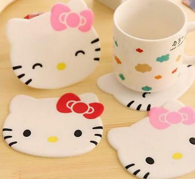 2PC Cute Hello Kitty Drink Coaster Tea Coffee Cup Mat Pad Table Desk Decor Gift](Hello Kitty Cups)