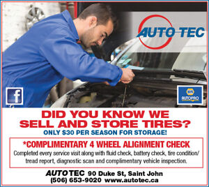 Tire Sales, Change Out & Storage @ Autotec