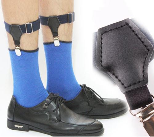 1Paar Einstellbar Sockenhalter Herren Strumpfhalter Socken 2.5cm  Qualität