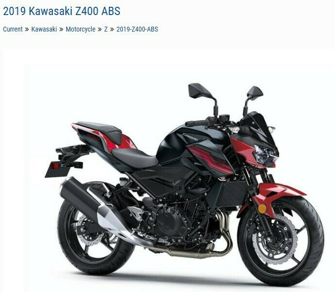 Picture of A 2019 Kawasaki Z400 ABS