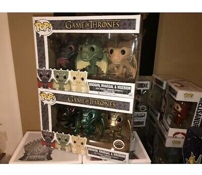 Funko Pop! Game of Thrones Drogon, Rhaegal & Viserion Baby Dragon 3-Pack VAULTED