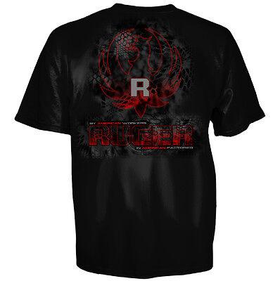 Sturm Ruger   Co Kryptek Digital Eagle Logo Firearms Black T Shirt New S 3Xl